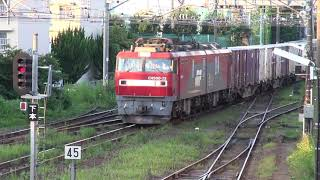 【JR貨】EH500-33牽引 高速貨物 3051レ 仙台貨物ターミナル到着 (FHD)