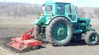 Т-40 с почвофрезой