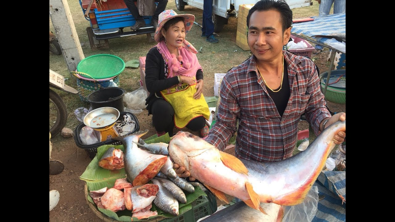 Fish market village food market thailand 2018 youtube for Village fish market