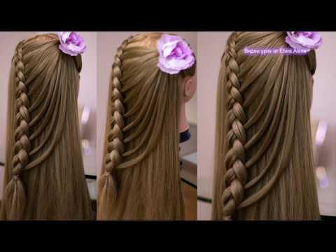 Романтичная причёска с воздушной косой Hair tutorial Peinado de trenza