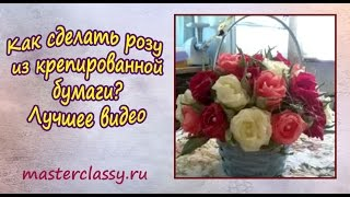 Как сделать розу из крепированной бумаги? Лучшее видео(Изготовить розу достаточно просто, просто нужно иметь необходимые материалы и свободное время. Итак, вам..., 2015-09-12T06:03:28.000Z)