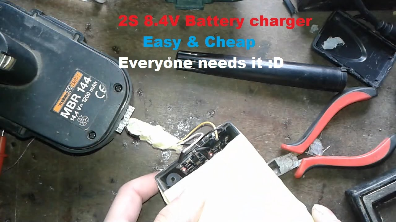 Make The Simplest 2s Li Ion 18650 84v Charger From 2 Old Chargers Simplelm317solarchargerv10schematic