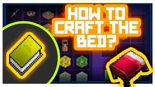 RealmCraft #GameTutorials - How to Craft Utilities? (Bed Crafting)