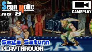 Capcom Generation 5 (Street Fighter II World Warrior) Sega Saturn Guile Playthrough [SH no.8]