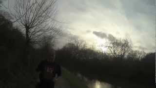 Jogging along the canal with Gopro
