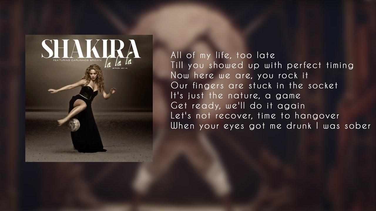 Текст песни шакира ла ла ла