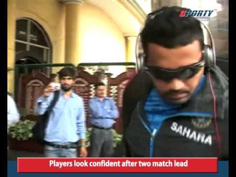 Team India arrive in Mohali Stadium