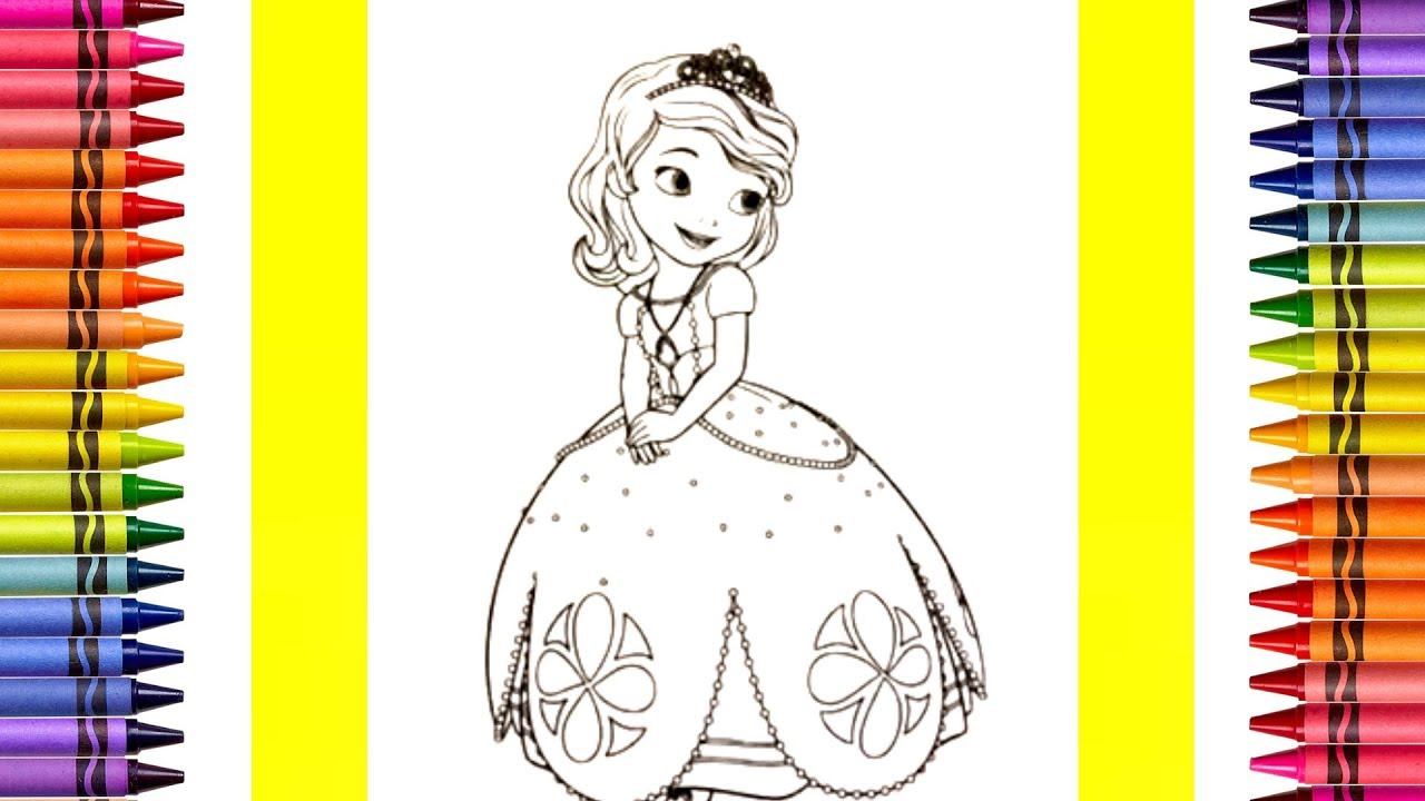 The Coloring Couple Presents Disney's Sofia the First