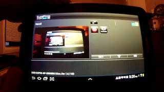Samsung Galaxy tablet running GoPro app .
