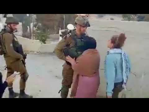 """""""Palestinian"""" girls kick Israeli soldiers as provocation"""