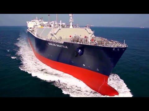 Top 10 Biggest LNG Tanker Ships Floating on Waves In Ocean
