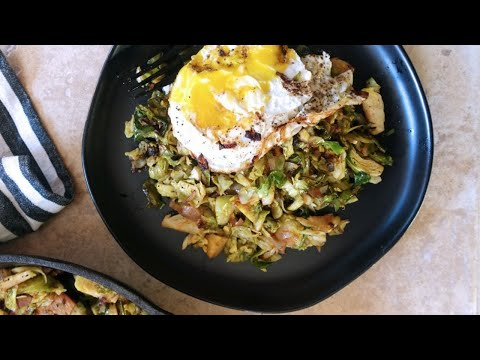 BRUSSELS SPROUTS HASH WITH EGGS brussels sprouts hash and eggs
