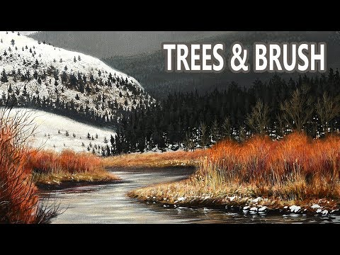Painting the Trees and Brush