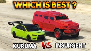 GTA 5 ONLINE : KURUMA VS INSURGENT (WHICH IS BEST ARMORED VEHICLE?)