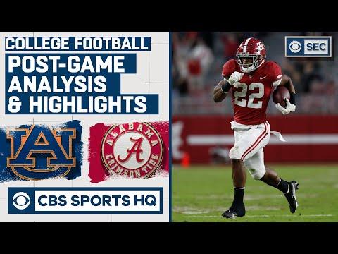 22 Auburn vs 1 Alabama Post Game Analysis & Highlights: Bama cruise in Iron Bowl  CBS Sports HQ