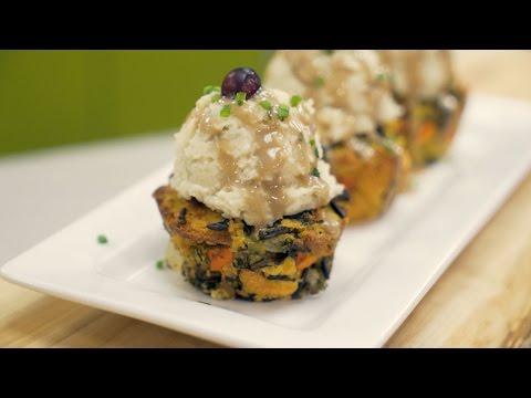 Christmas Recipe Vegan Gluten Free Stuffing Cupcakes W
