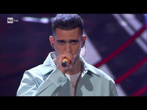 Mahmood canta 'Gioventù bruciata' - Sanremo Giovani 21/12/2018