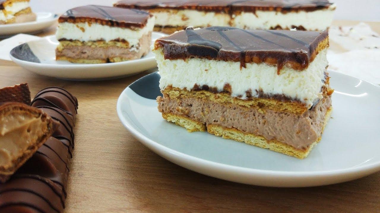 Ciasto Kinder Bueno bez pieczenia | Słodki Blog