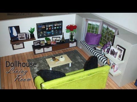DIY Miniature Dollhouse Livingroom