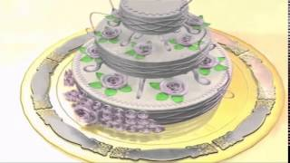 Футаж Свадебный торт