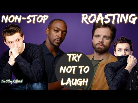 Anthony Mackie Continuously Roasting Tom Holland(Part-1) - Sebastian Stan Included