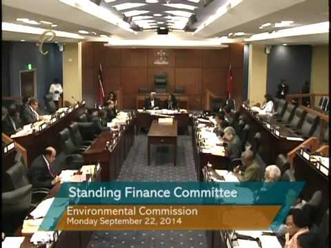 Standing Finance Committee - Ministry of Tourism, Integrity Commission, Environmental Commission