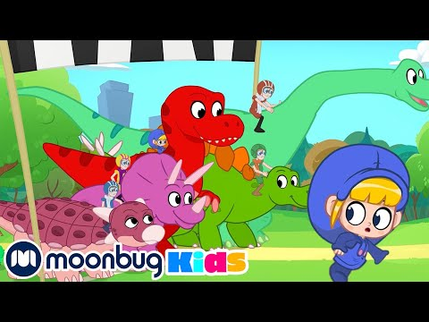 Morphle and Mila's Jurassic Race!   Jurassic Tv   Dinosaurs and Toys