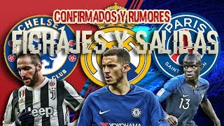 FICHAJES CONFIRMADOS Y RUMORES 2018/2019 | HAZARD AL BARCELONA O REAL MADRID