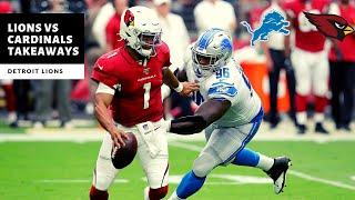 Lions VS Cardinals Takeaways! 27-27 Tie?! Detroit Lions Talk
