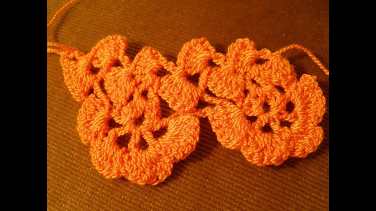 How to knit a lace pattern collar crochet flower pattern how to ...