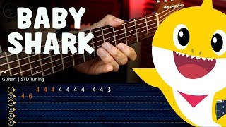 Baby Shark Dance | Sing and Dance! | Guitar TABS Tutorial | Christianvib  Cover Guitarra