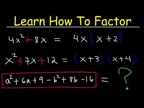 Factoring Trinomials & Polynomials, Basic Introduction - Algebra