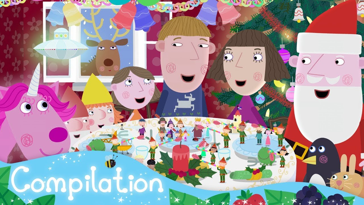 benandholly benandhollycartoon littlekingdom - Ben And Holly Christmas