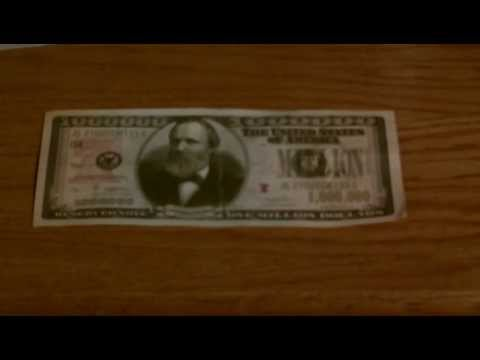 A REAL 1,000,000 DOLLAR BILL!!!- Im Rich Oh Yeah Oh Yeah And U Not.