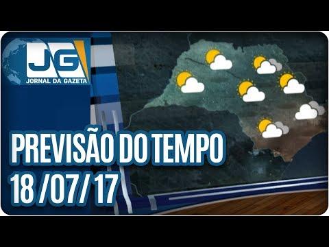 Previsão do Tempo  - 18/07/2017
