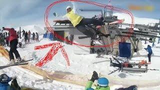 Gudauri crazy ski lift hurt people 3   Лыжный подъёмник в Гудаури сошёл с ума и покалечил людей