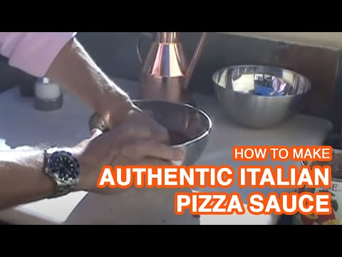 Authentic Italian Pizza Sauce Recipe