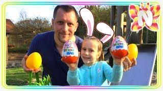 🐣 Челлендж Easter Egg Hunt, ищем сюрпризы в яйцах / Папа против Николь