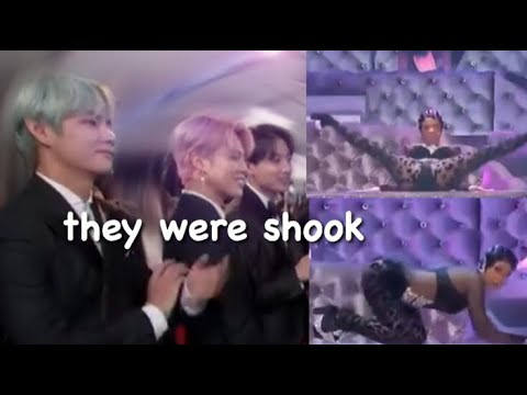 *FULL* BTS REACTION TO Cardi B BUSTING IT DOWN @ THE GRAMMY'S *WITH MONITOR*