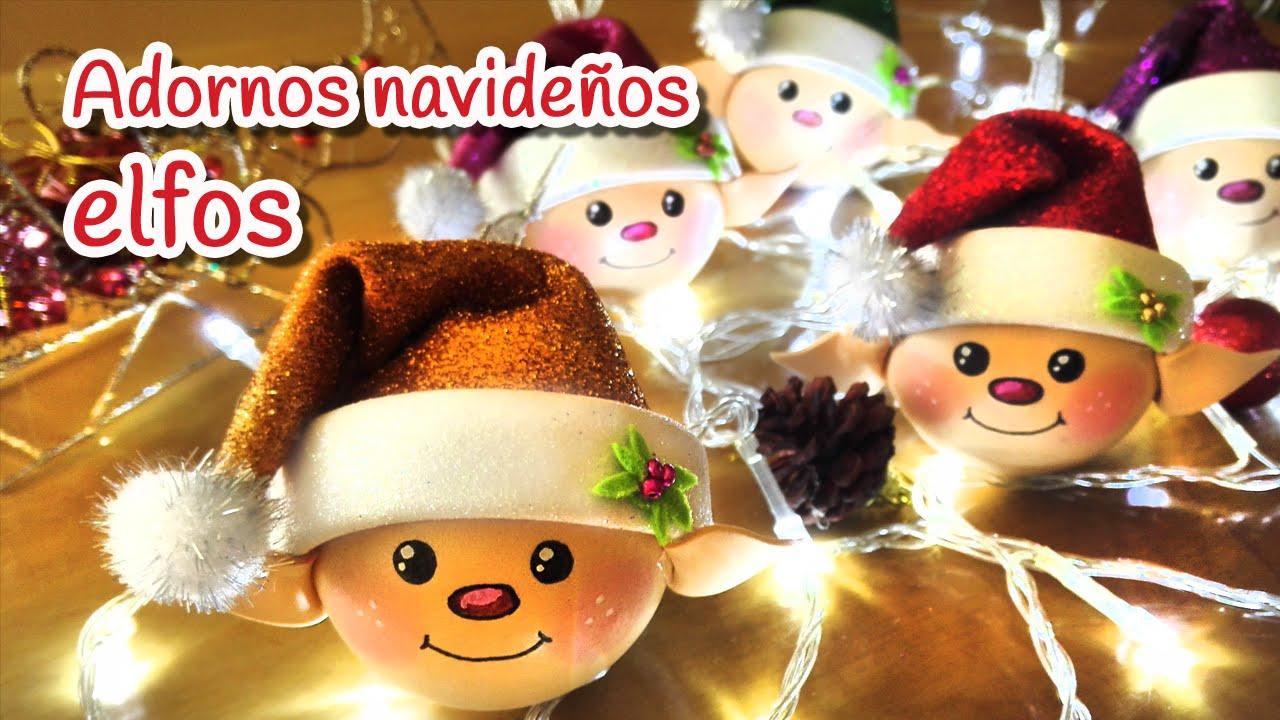 Manualidades para Navidad Adornos navideos ELFOS Innova