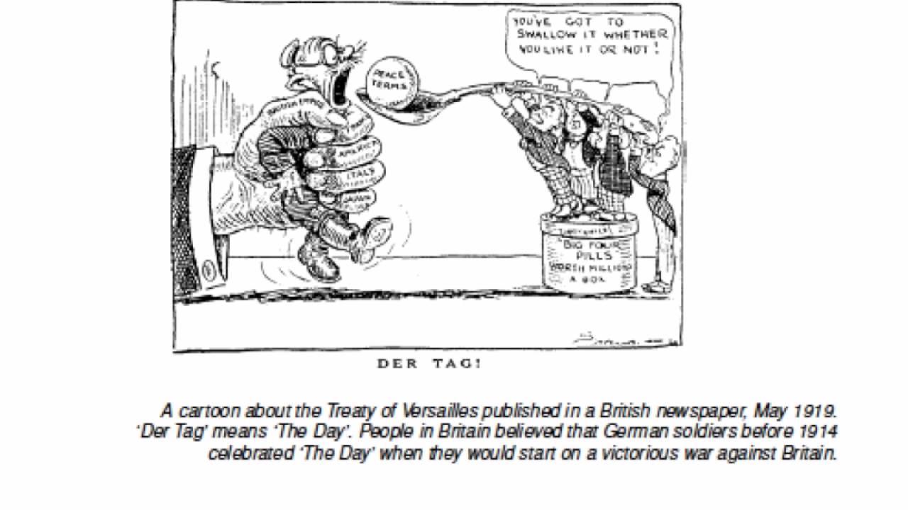 treaty of versailles mini q