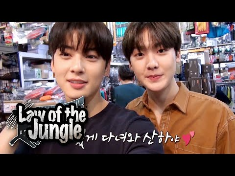 "San Ha ""Eun Woo Is My Role Model"" [Law Of The Jungle Ep 378]"