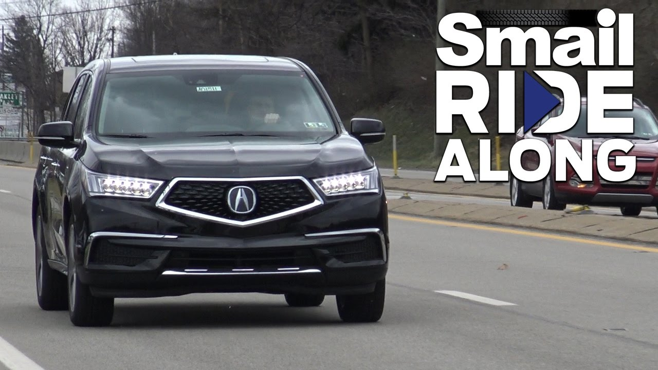 Smail Ride Along 2017 Acura Mdx Tech Review And Test
