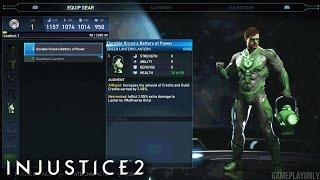 Injustice 2: NEW Gear Customization with Green Lantern, Black Adam, Cyborg, Batman & More!!
