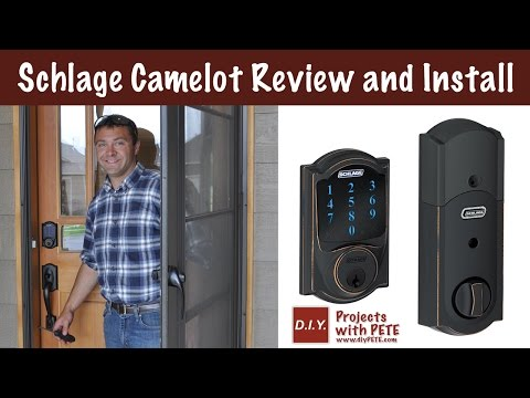 Schlage Camelot Touchscreen Deadbolt Review and Install