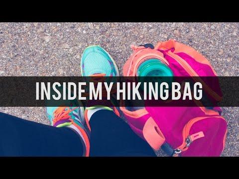 Inside My Hiking Bag