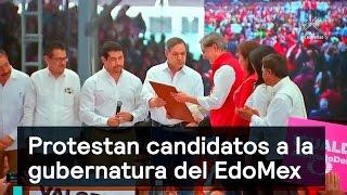 Protestan candidatos a la gubernatura del EdoMex - Política - Denise Maerker 10 en punto
