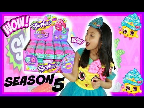 SHOPKINS  SEASON 5 OPENING FULL CASE HAUL HUGE SURPRISE TOYS  SHOPKINS CUPCAKE QUEEN LIMITED EDITION