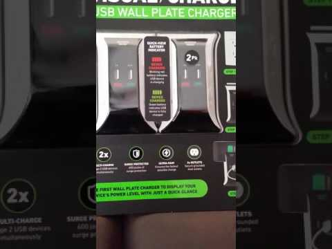 New 2017 Smart Visual Wall Plate Charger Review Youtube