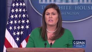 sarah sanders press briefing